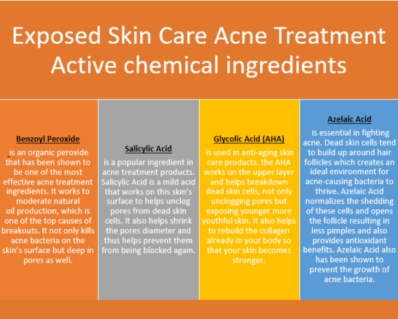 Exposed Skin Care Acne Treatment ingredients